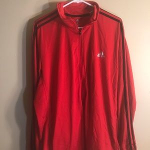 Men's red track suit jacket adidas